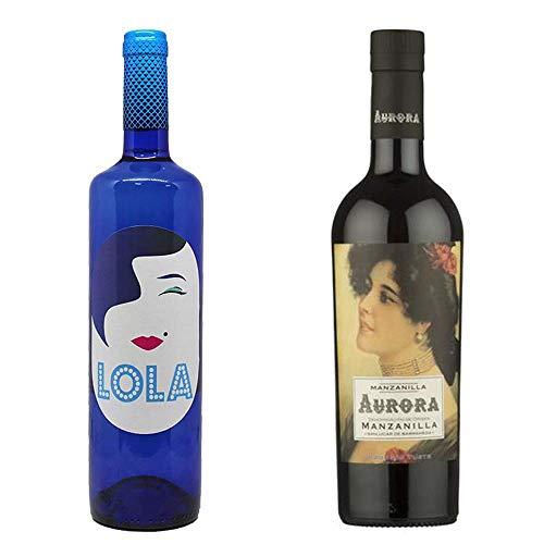 Lola Blanco Semidulce Y Manzanilla Aurora - D. O. Campo De Borja Y D. O. Manzanilla De Sanlúcar De Barrameda - 2 Botellas De 750 Ml