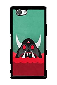 Caseque Devil Bull Back Shell Case Cover For Sony Xperia Z1 Compact