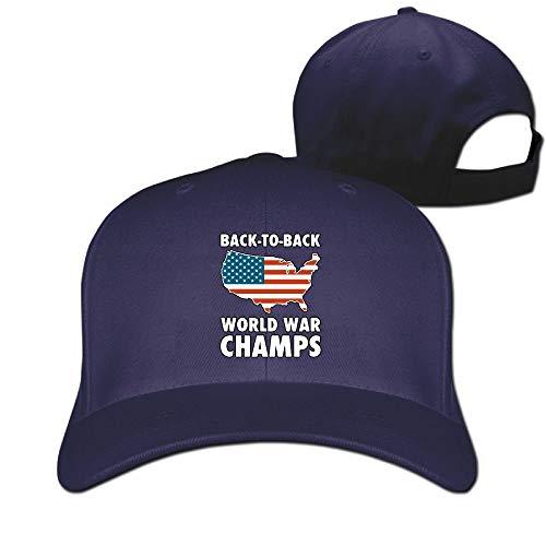 Mode Dos à Dos Design de Chapeau de Papa Hip hop Champions de la Guerre mondiale5