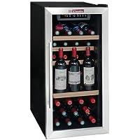 La Sommelière LS38A Independiente Nevera de vino termoeléctrico Negro, Acero inoxidable 38botella(s) A - Enfriador de vino (Independiente, Negro, Acero inoxidable, Negro, 4 estanterías, 1 puerta(s), Acero inoxidable)