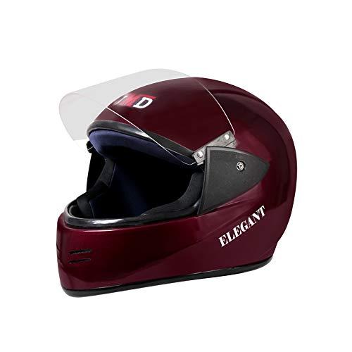 JMD HELMETS Elegant Full Face Helmet (WINE RED, L)