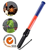 raspbery 21-Inch Signal Traffic Wand Baton LED Flashlight with Strobe Mode, Wrist Strap Lanyard for Kids Outdoor Camping
