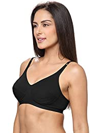 ff63bd8cd3 Lovable Cotton Non Padded Non Wired Full Coverage Black Bra - Cotton  Essensuals - CES-