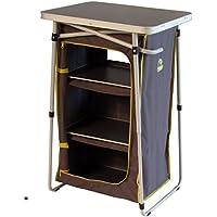 #0618 Grauer Faltschrank mit 6 F/ächern auch als Sitz geeignet • Bank Campingschrank Camping Stoffschrank Zelt Schrank Regal