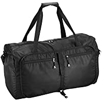 Omorc 60L Sac de voyage portable pliable de stockage extensible et pliable Grande léger bagages Sac de sport multifonctionnel Sac