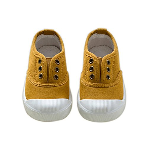 ALUK- Chaussures De Toile Pour Enfants Petits Chaussures Blanches Chaussures Bébé Étudiants Chaussures ( couleur : Ginger Yellow , taille : 30 ) Ginger Yellow