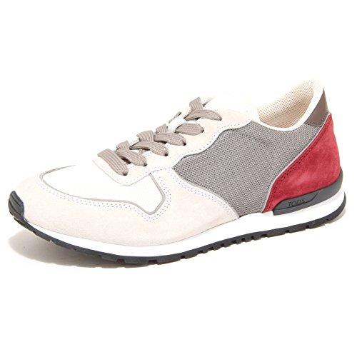 7833N sneakers uomo TOD'S bianco/grigio shoes man Grigio/Bianco