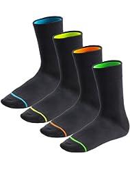 8 Paar Neon Glow Socken für Sie und Ihn - angenehmer Sitz durch Elasthan und Pique-Komfortbund - Qualität von celodoro