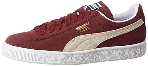 Puma Suede Classic+ - Sneakers Basses - Mixte Adulte - Rouge (Burgundy/White 75) - 42 EU (8 UK)