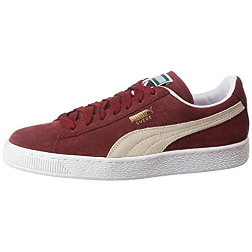 Suede Classic+, Unisex Adults Low-Top Trainers, Red (Burgundy/White 75), 10.5 UK (45 EU) Puma