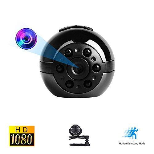Mini Spy Versteckte Kamera, Vaxiuja Ultra-kleinen Runder Entwurfs 1080P Voller HD Beweglichen Kamera Nachtsicht 12 Megapixel Bewegungserkennung 360 Grad Drehung Unterstützungs TF Karte Bis Zu 32GB - Infrarot überwachungskamera