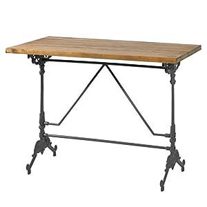 Indhouse - Mesa para decoración vintage en fundición y madera Alden negra de Indhouse