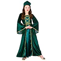 Girls Medieval Tudor Princess - Kids Fancy Dress Costume