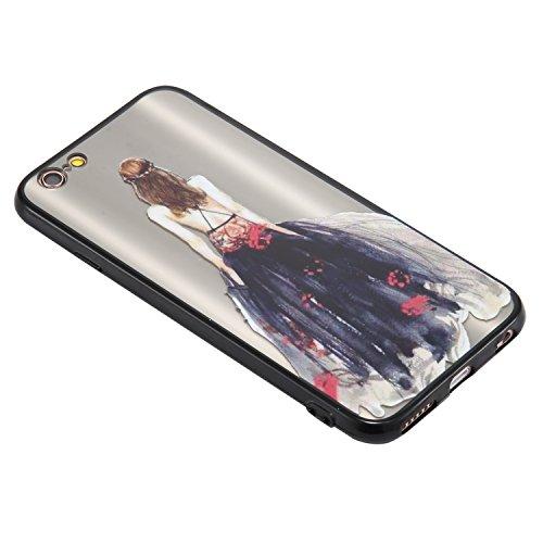 Coque iPhone 6/6S, Cozy Hut TPU Matière avec [Fille de mariage] [Ultra Mince] [Ultra Léger] Anti-Rayures Anti-dérapante iPhone 6/6S Case Coque Housse Bumper Cover pour iPhone 6/6S-4,7 pouces - robe de robe de dentelle