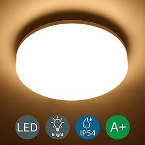 Lighting EVER 15W Deckenlampe, IP54 Wasserfest Badlampe, 3000K LED Deckenleuchte, 1250lm Lampen ideal für Badezimmer Balkon Flur Küche Wohnzimmer, Warmweiß Badezimmerlampe Ø22cm