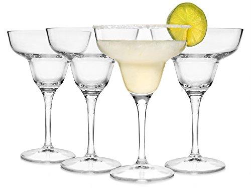 Bormioli Margarita Gläser Set 'Copa' 4 teilig | Füllmenge 330 ml | Margaritakelch | Stilechter Genuss und perfektes Servieren der leckersten Cocktails