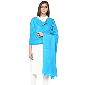 Pashtush Women's Fine Wool Jacquard Shawl, Faux Pashmina, Australian Merino Wool, Soft and Warm