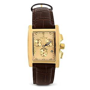 Oskar Emil Reloj cronógrafo para Hombre de Cuarzo con Correa en Piel Rodez Brown Leather