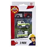 Dickie Toys Set de 3 véhicules de Secours Sam Le Pompier : Camion, Voiture et...