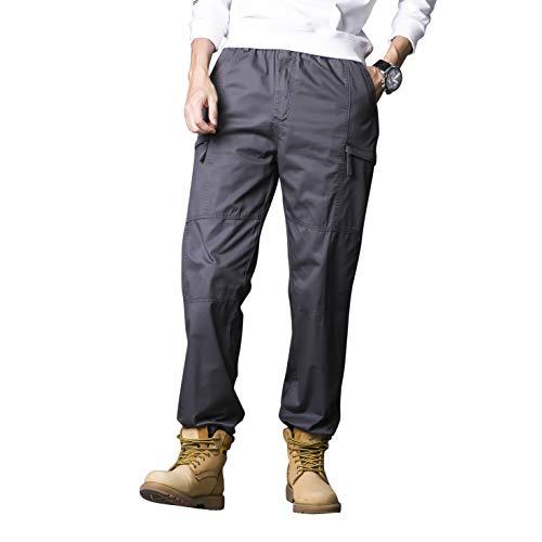 c260b547a877 Gmardar Pantaloni Uomo Cargo Pantaloni da Lavoro con Multitasca Tasche  Elastica Vita Elegante Cotone 100%