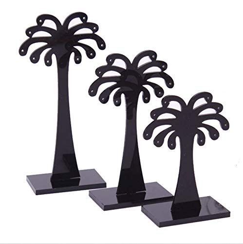 AmDxD Acryl Schmuckständer Palm Baum 10 Löcher Schmuckhalter für Halskette, Ohrringe, Armbänder - C (Palm-baum-holz)