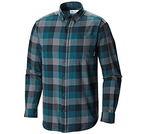 Columbia Mens Out and Back II Long-Sleeve Shirt Night Shadow Check