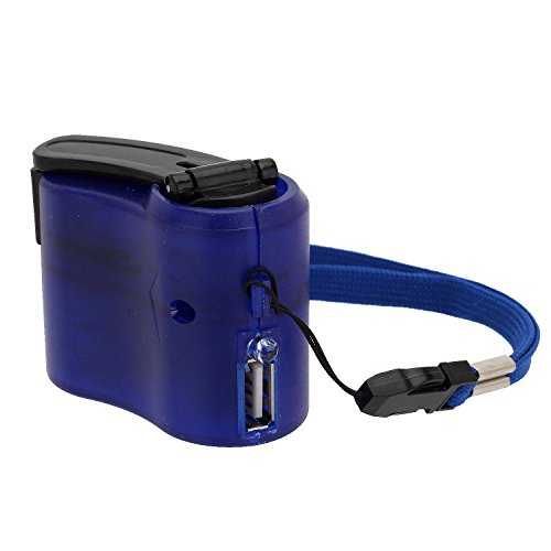 Merssavo Handy-Notfall-Ladegerät USB-Kurbel Hand manuelle Dynamo für MP4 MP3-Mobile PDA