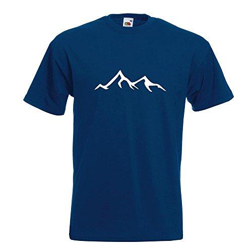 KIWISTAR - Wanderer Bergsteiger T-Shirt in 15 verschiedenen Farben - Herren Funshirt bedruckt Design Sprüche Spruch Motive Oberteil Baumwolle Print Größe S M L XL XXL Navy