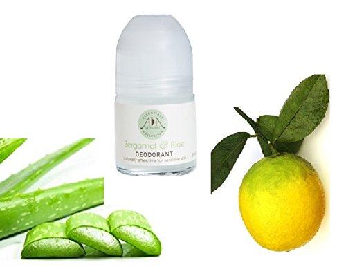 Desodorante en rollo natural Bergamot & Aloe - Sin aluminio, sin alcohol, sin perfumes sintéticos - Aceites esenciales puros