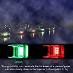 Fydun 12V LED Flush Mount Side Bow Navigation Signal Light 2Pcs 120° Lamp for Marine Boat Yacht Green 61.5lm&Red 19lm 12