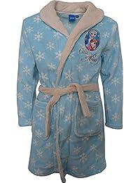 Disney Frozen El Reino del Hielo Elsa & Anna Niñas Suave paño grueso Bata de baño / Albornoz Azul