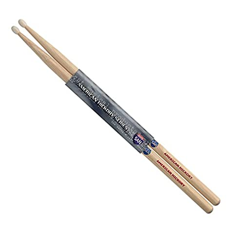 Stagg SH5AN Hickory Trommel-Stock mit Nylon Tip (1-paar) (Hickory 5a Nylon Tip)