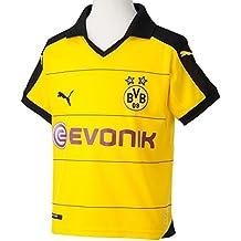 Puma  BVB Home Replica Shirt with Sponsor - Camiseta de equipación de fútbol para niña, color amarillo, talla 176 cm