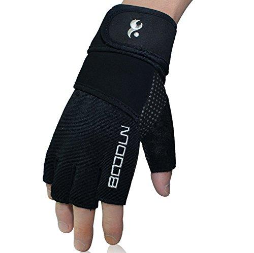 Qiu Ping Handgelenk Displayschutzfolie Sport Basketball Tennis Hantel Handschuhe, Silver Embroidered, M -