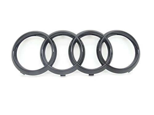 Original Audi Ringe Kühlergrill Schwarz glänzend black Edition