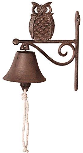 SIDCO Türglocke Gußeisen Eule Türklingel Wandglocke Gartenglocke Vintage Glocke