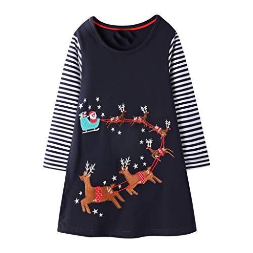 2-8 Jahre Kinder Weihnachten Kleid, sunnymi Baby Schneemann Print Tüll Prinzessin Gestreiften Outfits