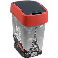 CURVER Residuos contenedor de Basura de Papel con Flip Tapa basculante Bin 25 litros de razón Paris