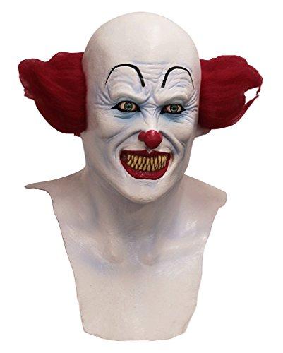 Horror Halloween Clown-Maske mit Brust aus dem Zirkus der ()