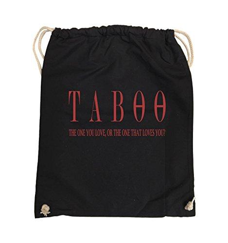 Comedy Bags - TABOO - LOGO2 - Turnbeutel - 37x46cm - Farbe: Schwarz / Silber Schwarz / Rot