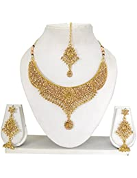 Vipin Store Golden Color Stone And Kundan Gold Plated Jewelery Set - B078Y1LHPD