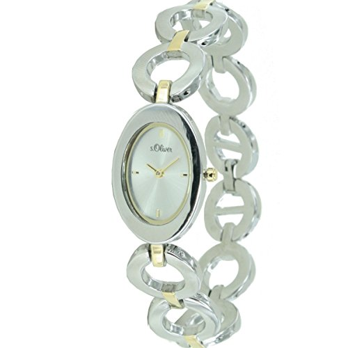 s.Oliver Damen-Armbanduhr Analog Quarz SO-15079-MQR