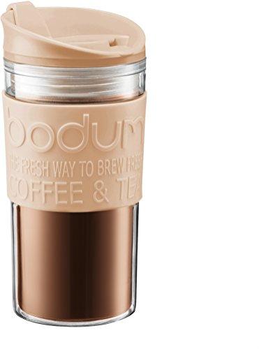 Bodum - 11103-945B-Y17 - Mug de Voyage Isotherme - Double Paroi Plastique - 0.35 L - Crème