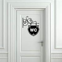 Sencillo Vida Pegatinas de baño vinilo adhesivo Decorativo Pegatina Pared Decoración del hogar Pegatina para Puerta