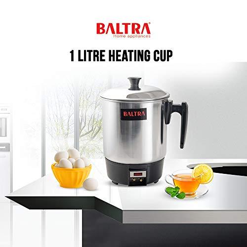 Baltra 1 Litre 300 Watt Heating Cup (Silver), Detachable Power...