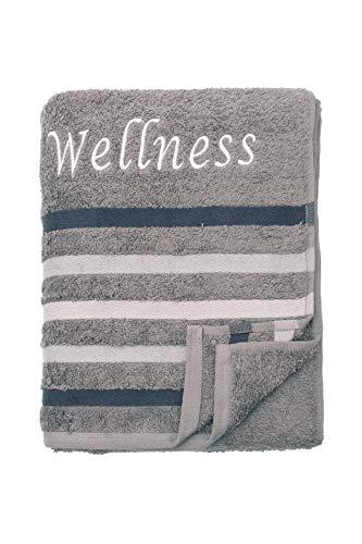 00c3484820 Strandtuch Saunatuch Badetuch 80x200 cm 100% Baumwolle in Verschiedene  Designs, Wellness Anthrazit