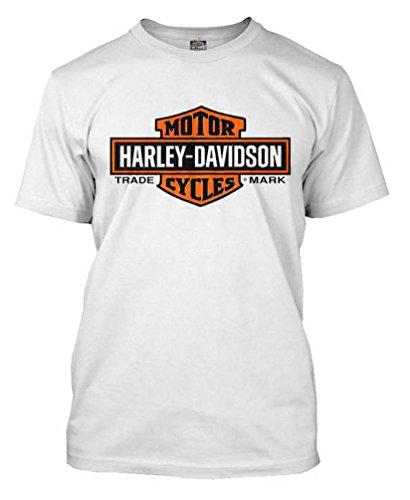 HARLEY-DAVIDSON Herren T-Shirt Orange Elongated Bar & Shield 30291967, Weiß - Weiß - XX-Large