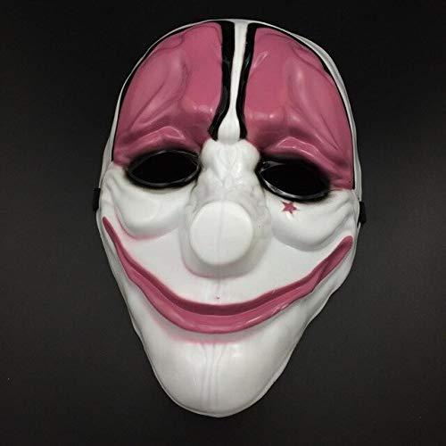 Maske Joker Payday2 Party Masken Überfall Dallas Wolf Ketten Hoxton Party Cosplay Halloween Horror Maskerade Maske, 4