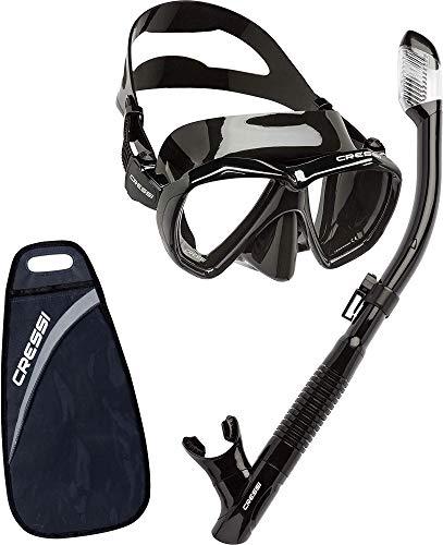 Cressi UnisexErwachsene Ranger & Tao Masken und Schnorchel zum Tauchen und Schnorcheln Schwarz, Einheitsgröße -