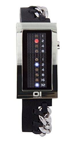 The One mujer-reloj binario cuarzo talla única, negro, negro/plata